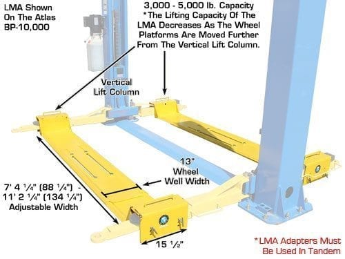 Tractor Lift Arm Extension : Atlas lma lawnmower two post adapter automotive