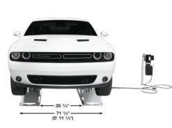 6 pl front view with dodge challenger