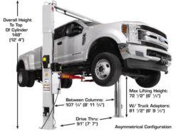 10000 lb 2 post auto lift
