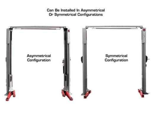asymmetrical vs symmetrical auto lift