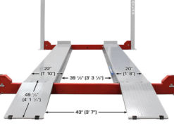 4 post lift ramp dimensions