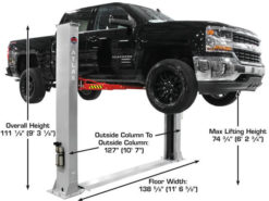 overall lift height
