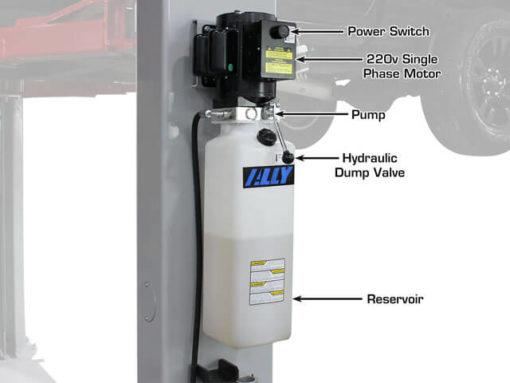 2 post lift motor apparatus