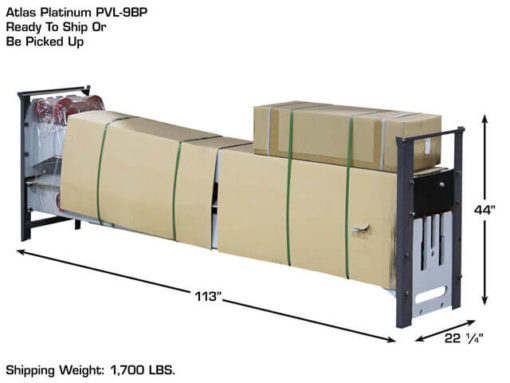 12000 lb 2 post auto lift packaging