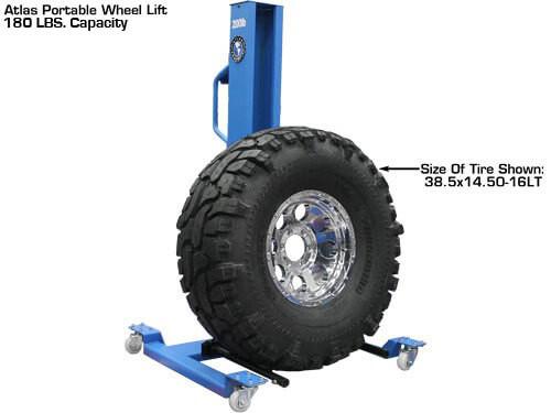 wheel lift tire size