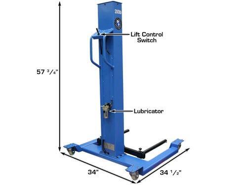 wheel lift dimensions