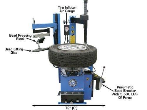 tc lh wheel clamp tire changer