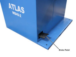 wheel balancer brake pedal