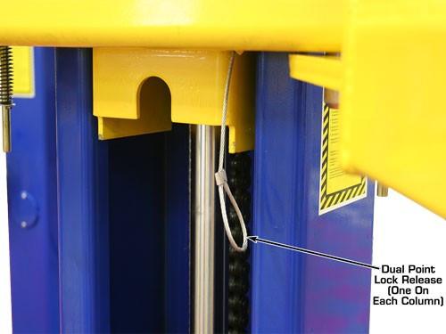 2 post lift lock release