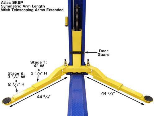 symmetric arm length extended