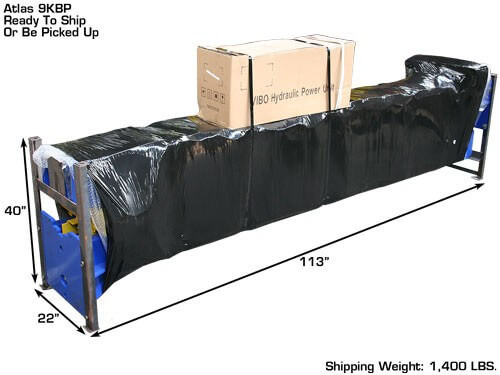 2 post lift packaged to ship