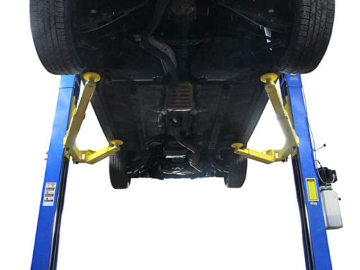 2 post lift under carriage view