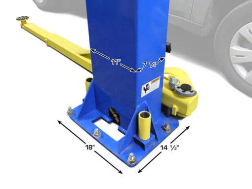 lift post dimensions